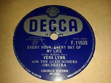 VERA LYNN : EVERY HOUR, EVERY DAY OF MY LIFE / THE WIND CANNOT READ.  UK.78rpm