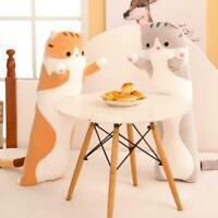 Cat Long Pillow Plush Toy Cute Soft Stuffed Sleeping Pillow J0R8