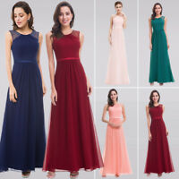 Woman Fashion Long Bridesmaid Dresses Sleeveless Beaded Evening Party Dresses