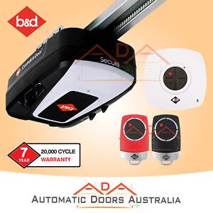 B&D CAD SECURE SDO-6 Sectional / Panel Garage Door opener w/ Steel belt rail. Re