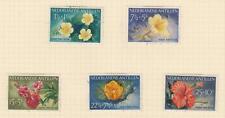 NETHERLANDS ANTILLES, 1955 Child Welfare Fund, Flowers set of 5, used.