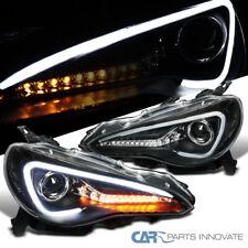Para 12-17 Scion FR-S Toyota Mate Negro LED Proyector Faros Par secuencial