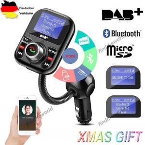 DAB+ Empfänger Digital Autoradio Adapter Bluetooth FM Transmitter mit Antenne