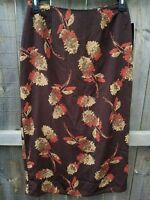 NEW NWT - AGB Large Modest Maxi Skirt Floral Fall Long Vintage Mustard Byer Cali