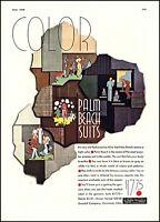 1938 Palm Beach men's suits Goodall Cincinnati Ohio vintage art Print Ad  adL51