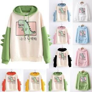 ⭐Sport Kawaii Ropa Harajuku Dinosaur Rabbit Fleece Hoodie Sweatshirt Jumper Coat