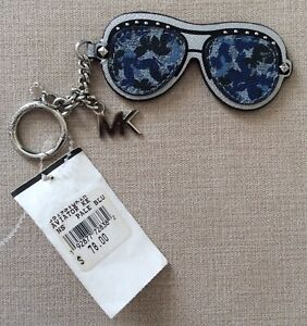 BNWT Michael Kors Blue & Silver Aviator Glasses Key Chain