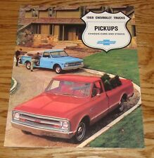 1968 Chevrolet Truck Pickup Chassis-Cab Stakes Sales Brochure 68 Chevy