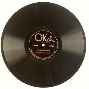 FIDDLING JOHN CARSON: Old Dan Tucker US Okeh 40263 78 EE- HEAR