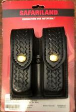 Safarliand Double Stack Magazine Holster Sig Glock S&W Black Basket Police Style