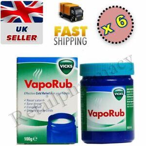 Vicks Vapour Rub | Sore Throat | Congestion | Coughs | 100g  Pack 6