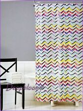 SATURDAY KNIGHT BATH SHOWER CURTAIN PEVA 70 x 72 ZIGGY MULTICOLOR  NEW