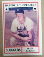 DUKE SNIDER BROOKLYN DODGERS 1982 GREATEST SLUGGERS