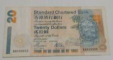Hong Kong 20 dollar Banknote VF Year 1996 Standard Chartered