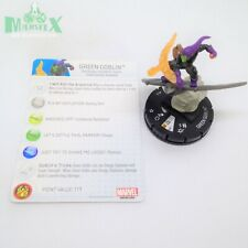 Heroclix Marvel 10th Anniversary set Green Goblin #018 Rare figure w/card!