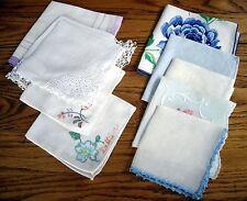Vintage Mixed Set Handkerchief Hankies ~ U PICK ~ Set of 5 ~