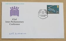 PARLIAMENT 1975 ROYAL MAIL FDC SIGNED BY POLITICIAN SIR WILLIAM THOMAS WILLIAMS