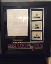 star wars production notes and pictures return of the jedi framed piece+c.o.a