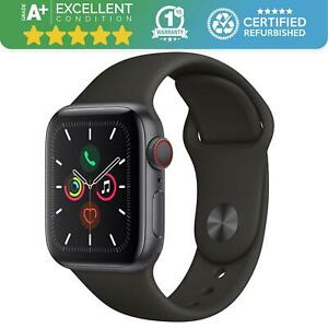 Apple Watch Series 5 44mm   Cellular GPS WiFi   Space Grey & Black Sports Band