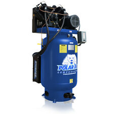 7.5HP Quiet Air Compressor Single Phase 120 Gallon Tank Vertical Industrial Plus