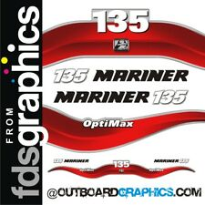 Mariner 135hp Optimax outboard decals/sticker kit