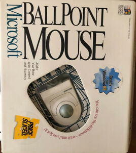 Vtg Microsoft Ballpoint Mouse For Microsoft Windows Compatible PS/2 System Japan