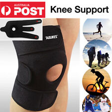 Sport Adjustable Black Knee Support Brace Protector Strap Running Basketball Gym