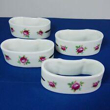 4 HAMMERSLEY Napkin Rings Holders ROSES Pink Floral Fine Bone China
