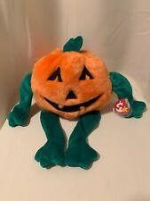 "Ty Beanie Buddy New w/tags, 1999 Pumkin the pumpkin 🎃 Halloween Decoration 12"""