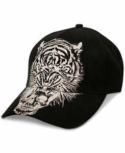 New Sean John Men's Tiger Skull Black Baseball Adjustable Chino Cap Hat One Size