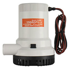 1125g Submersible 12V 1500GPH Marine Bilge/Sump Water Pump CE RoHS For Boat