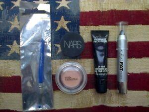 NARS Liner, MAC & Vital Radiance Base, Eyeko Fat Stick & Topshop Liner Brush