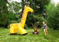 Giraffen Wassersprenger 3m hoch aufblasbar Giraffensprenger mit