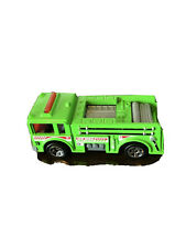 Vintage 1976 Mattel Hot Wheels Green Fire Truck Race Truck Fire Eater