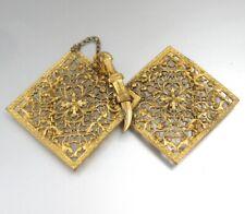 AntiqueFrenchGilded Bronze Belt Buckle, Oriental Style