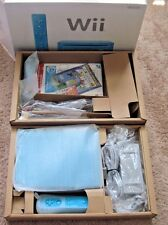 Nintendo Wii Limited Edition Blue System Complete with Box Controller Nunchuck