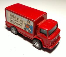 Vintage CORGI JUNIORS Superman DAILY PLANET Leyland Terrier Delivery Truck Red