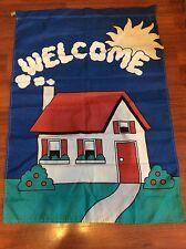 Garden House Flag 28 X 41 Welcome House