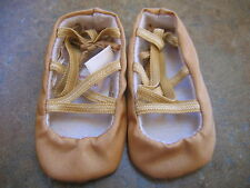 American Girl Doll GOLD BALLET SHOES from Rebecca Costume Dress Up Chest NEW