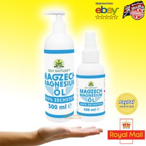 Zachstein Sea Magnesium Oil 100/500ml 100% Pure Natural Soothes Muscle Cramps