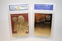 "TOM BRADY AUTOGRAPHED 2000 DRAFT PICK 23KT GOLD ""GEM-MT 10"" RETRO ROOKIE CARD!"