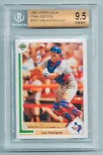 IVAN RODRIGUEZ - GRADED 1991 UPPER DECK ROOKIE BASEBALL CARD - BGS GEM MINT 9.5!