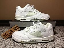 AIR JORDAN 5 RETRO LOW White Metallic Silver Nike V 1 3 4 6 11 Supreme 2006 9.5