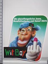 Aufkleber Sticker Witboy - Jeans - Shirts - Logo - Kult 80er (M1048)