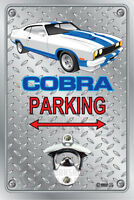 Pop A Top - Wall Mount Bottle Opener Metal Sign - Ford Cobra XC Coupe