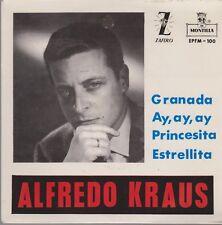 """7"""" EP Alfredo Kraus Granada, Ay, Ay, Ay, Princesita, Estrellita"""