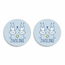 Zwillinge (Jungen): Geschenk zur Geburt/ Geburtstag - Button 2er Set NEU