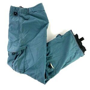 Nike ACG Men's Paratech 2000 Nylon Snowboard/Ski Pants Teal Blue • MEDIUM