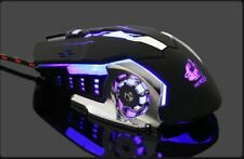 7 Button LED Wired Optical Gaming Mouse Mice for Pro Gamer PC Laptop