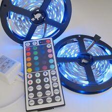 2x5M SMD 5050 RGB 300 LEDs Flexible LED Light Strip + 44Key IR Remote Controller